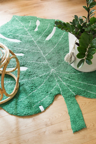 Monstera Leaf Rug design by Lorena Canals