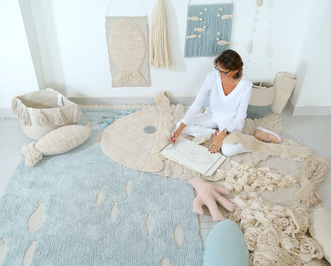 Ocean Shore Rug design by Lorena Canals
