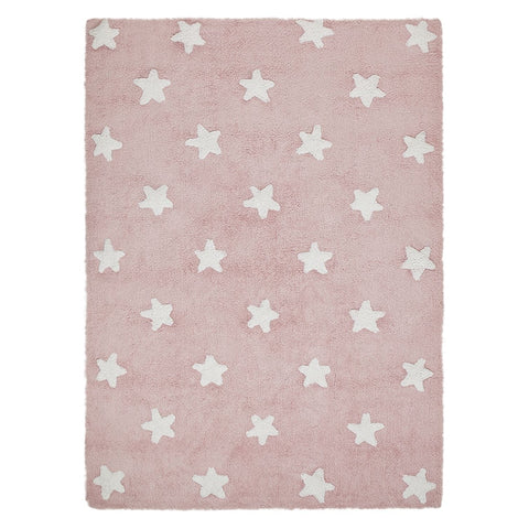 Stars Rug in Pink & White design by Lorena Canals