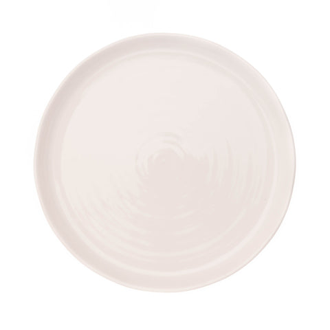 Set of 4 Pinch Dinner Plates in White design by Canvas