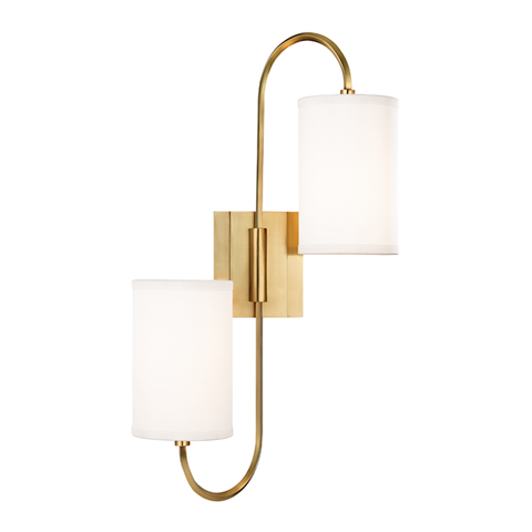 Junius 2 Light Wall Sconce by Hudson Valley Lighting