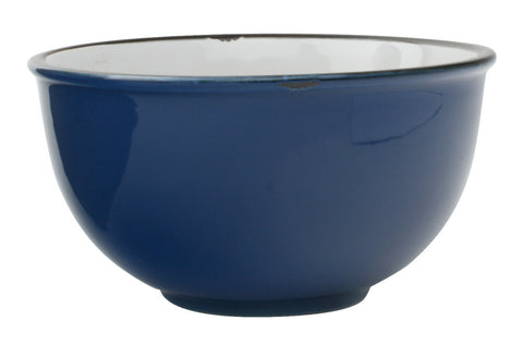 Tinware Tall Bowl in Blue design by Canvas