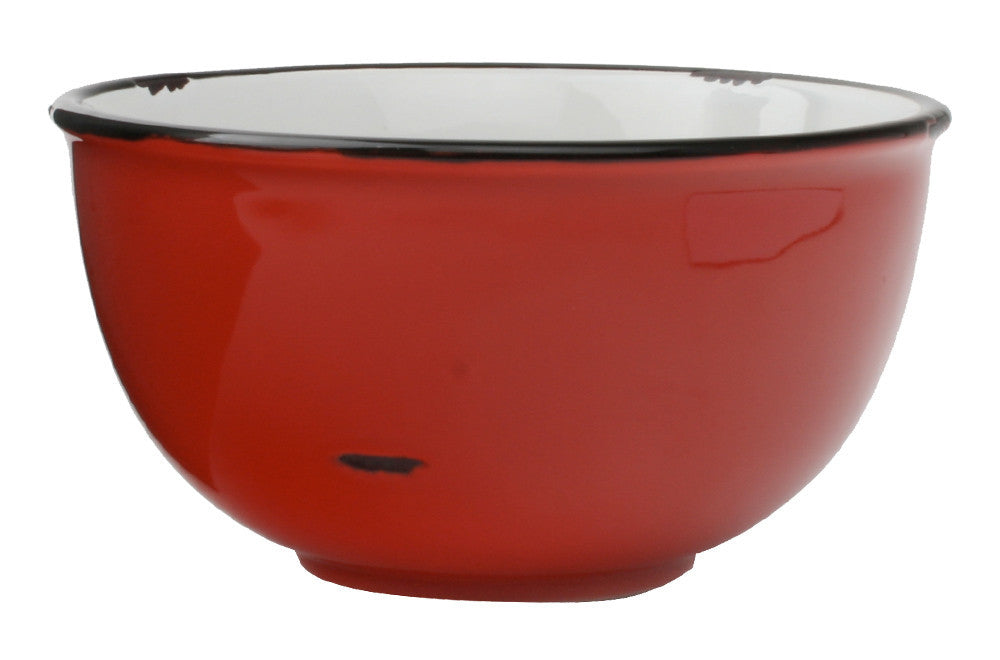 Tinware Tall Bowl in Red design by Canvas