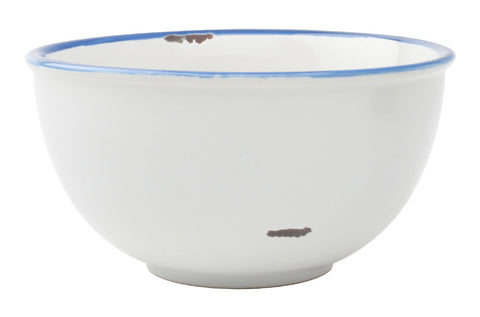 Tinware Tall Bowl in White design by Canvas