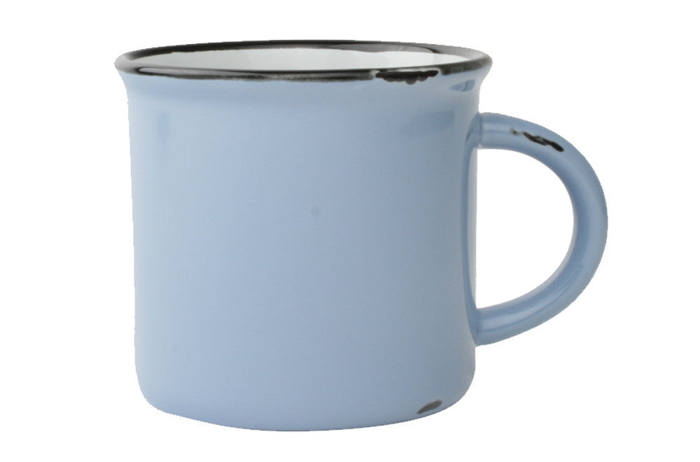 Tinware Mug in Cashmere Blue design by Canvas