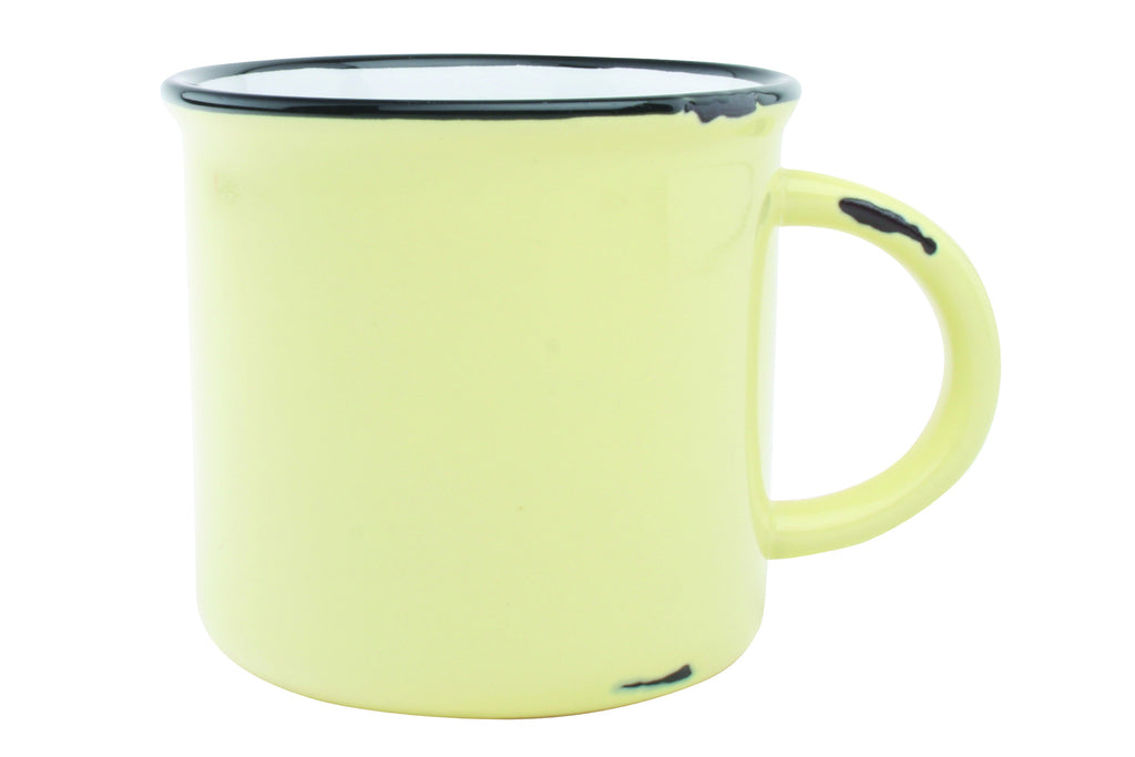 Tinware Mug in Yellow design by Canvas