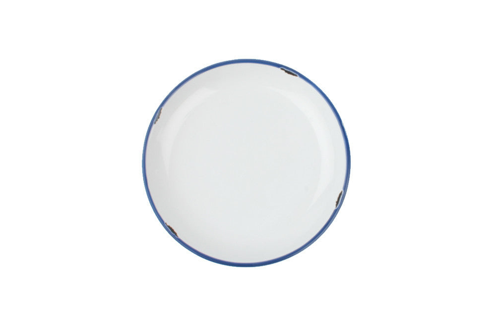 Tinware Salad Plate in White design by Canvas