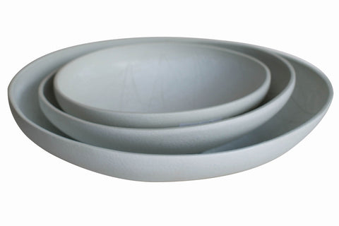 Taroudant White Asymmetrical Nesting Bowl in Various Sizes design by Canvas