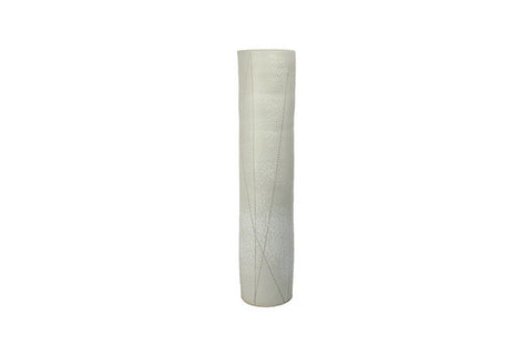 Small Taroudant Vase in White Leather Glaze design by Canvas