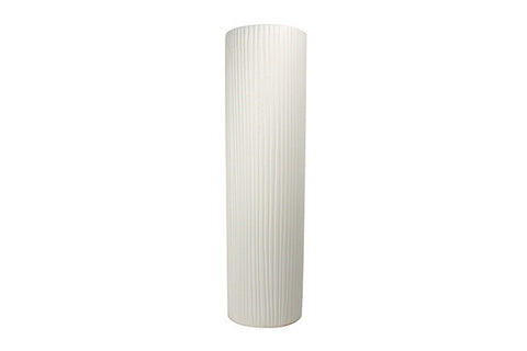 Extra Large Taroudant Vase in White Stripe Texture design by Canvas