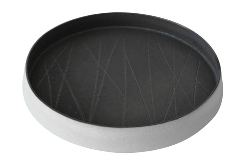 Small Taroudant Round Tray in Gunmetal design by Canvas