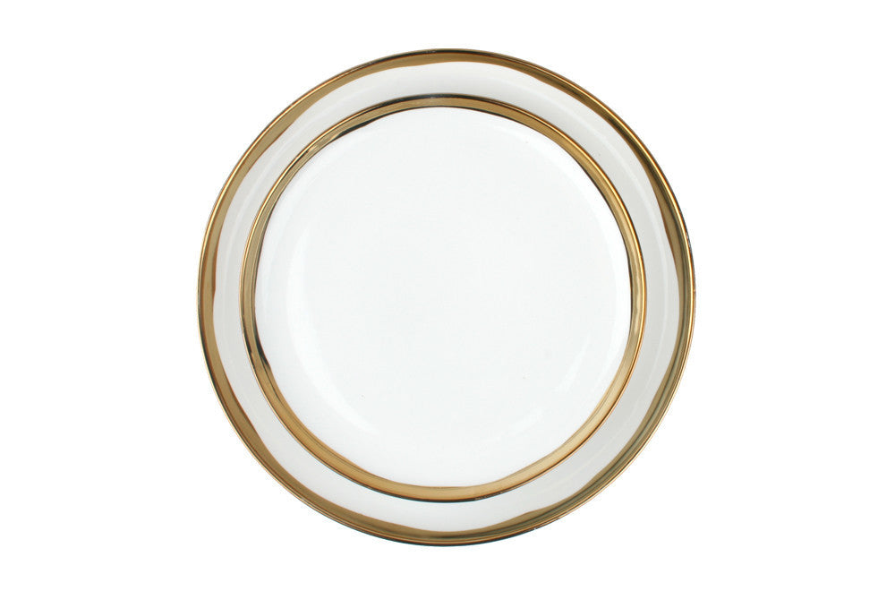 Dauville Gold Glazed Dinner Plate design by Canvas