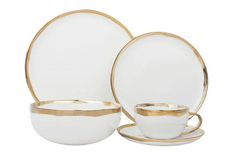 Dauville 5-Piece Place Setting in Gold design by Canvas