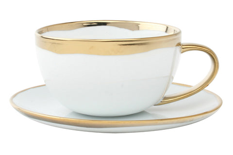 Dauville Gold Glazed Cup & Saucer design by Canvas