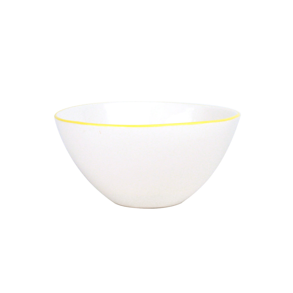 Abbesses Medium Bowl Yellow Rim design by Canvas