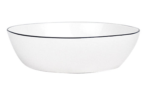Abbesses Pasta Bowl Black Rim design by Canvas