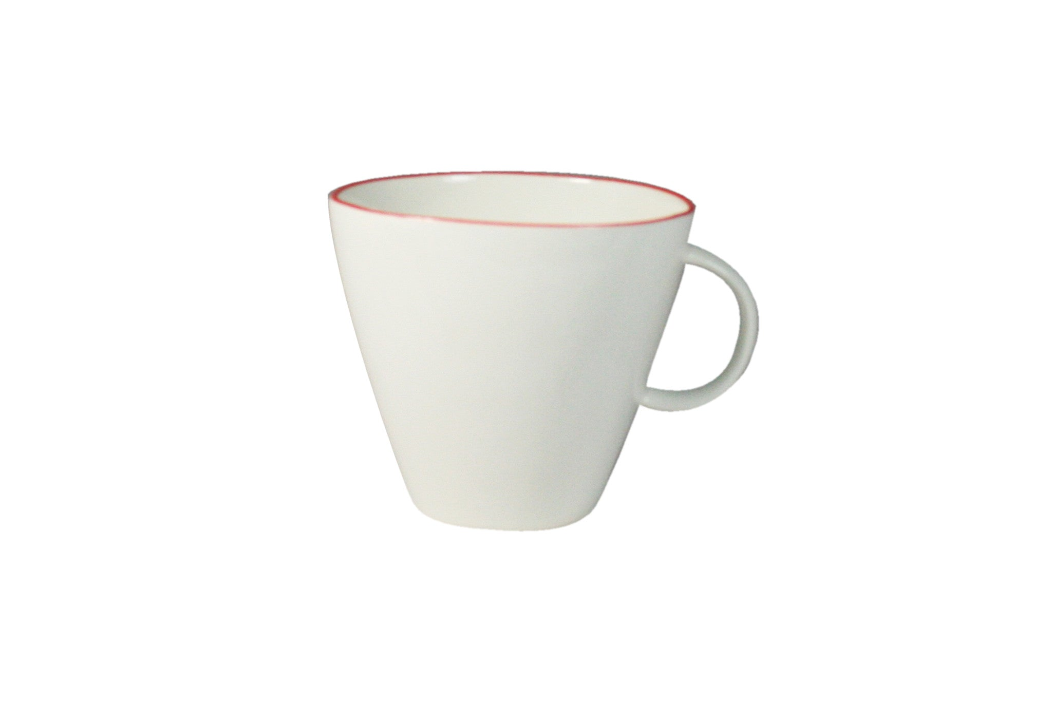 Abbesses Cup White with Red or Blue Rim by Canvas