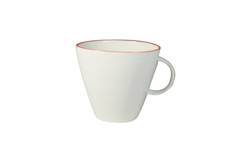 Abbesses Cup White with Red or Blue Rim by Canvas - BURKE DECOR