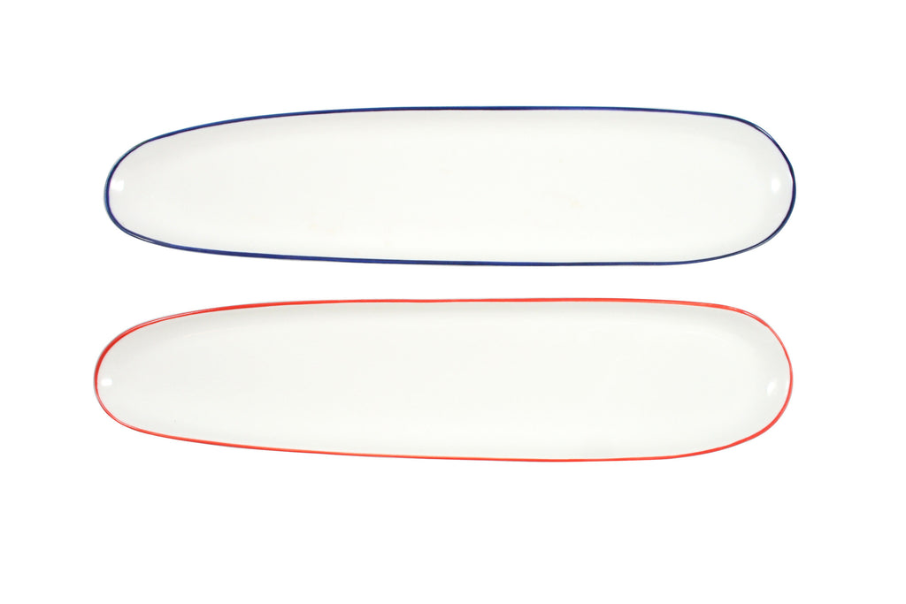 Abbesses Oblong Plates by Canvas - BURKE DECOR