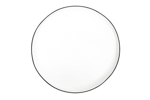 Abbesses Large Plate Black Rim design by Canvas