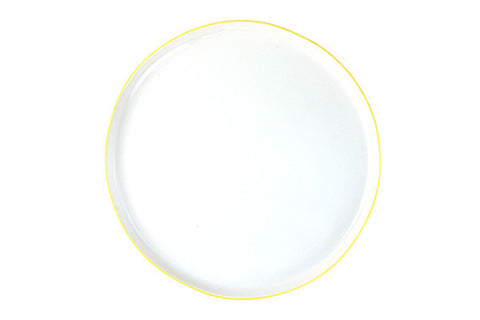 Abbesses Large Plate Yellow Rim design by Canvas