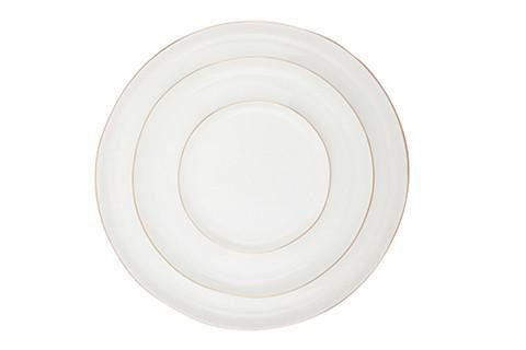 Abbesses Plates with Gold Rim by Canvas - BURKE DECOR