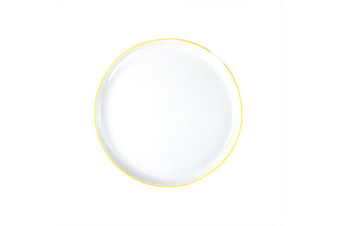 Abbesses Medium Plate Yellow Rim design by Canvas
