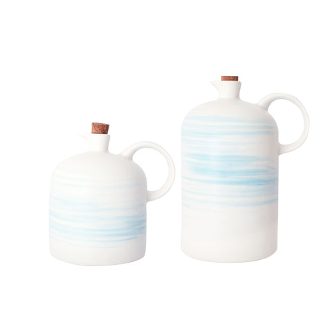 Charmouth Oil & Vinegar Cruet Set in Blue design by Canvas
