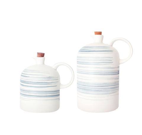 Charmouth Oil & Vinegar Cruet Set in Grey design by Canvas