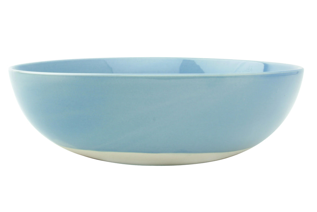 Shell Bisque Round Serving Bowl in Blue design by Canvas
