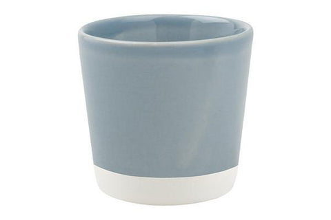 Set of 2 Shell Bisque Espresso Cups in Blue by Canvas