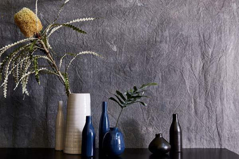 Morandi Table Vase in Persian Blue design by Canvas
