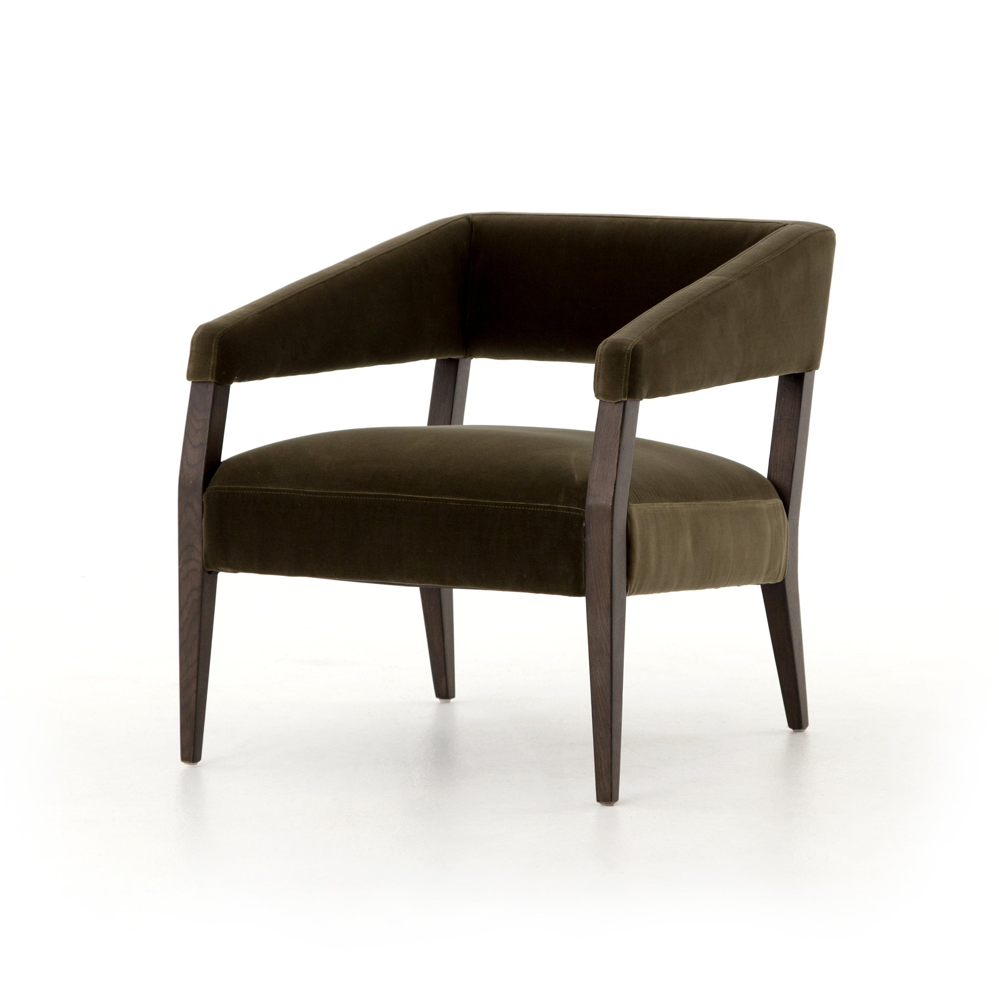 Gary Club Chair In Olive Green