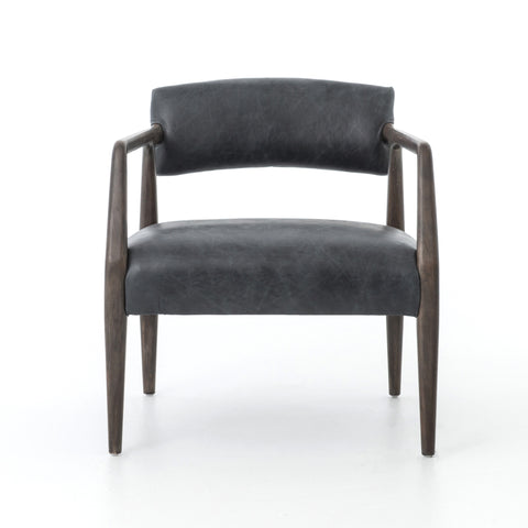Neville Chair in Chaps Ebony design by BD Studio