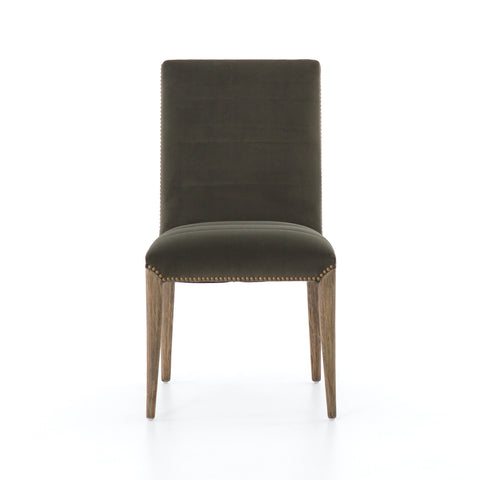 Nate Dining Chair in Modern Velvet Loden