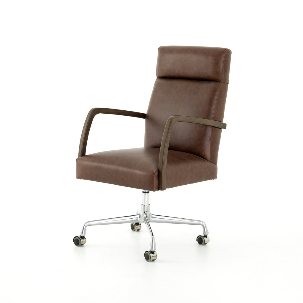 Bryson Desk Chair in Havana Brown