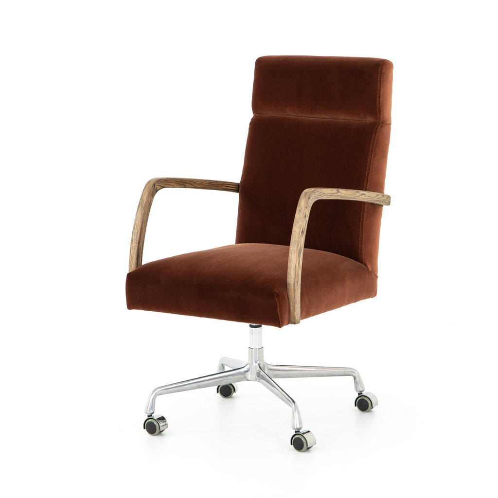 Bryson Desk Chair in Burnt Auburn