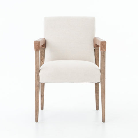 La Row Dining Chair in Chaps Saddle design by BD Studio
