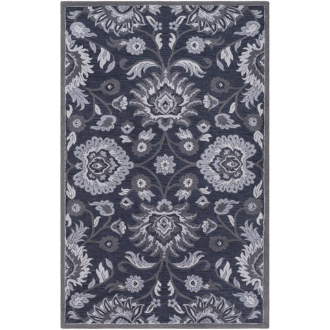 Caesar CAE-1191 Hand Tufted Rug in Navy & Charcoal by Surya