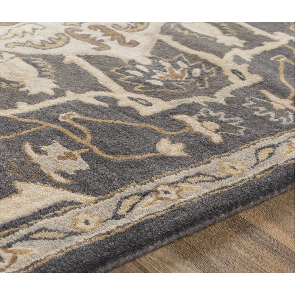 Caesar CAE-1216 Hand Tufted Rug in Charcoal & Cream by Surya
