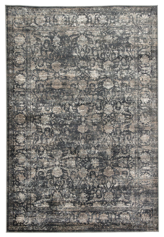 Kachina Floral Blue & Gray Rug design by Jaipur