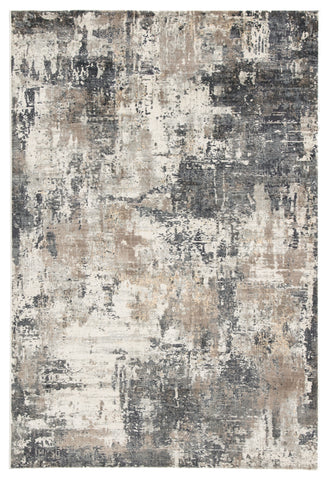 Sisario Abstract Gray & Gold Rug design by Jaipur