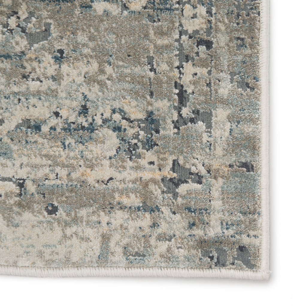 Kiev Medallion Gray & Ivory Area Rug
