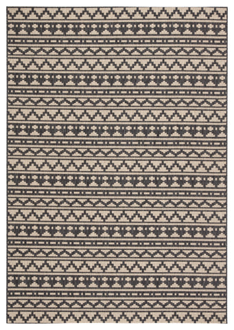 Killick Indoor/ Outdoor Tribal Gray/ Beige Rug design by Jaipur