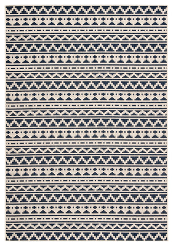 Killick Indoor/ Outdoor Tribal Blue/ Ivory Rug design by Jaipur Living