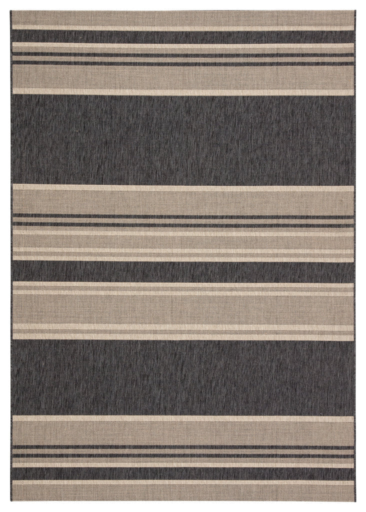 Pilot Indoor/ Outdoor Stripe Gray & Beige Area Rug