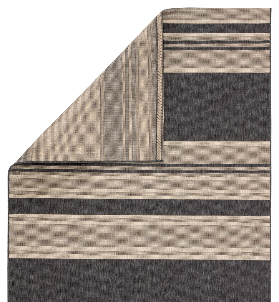 Pilot Indoor/ Outdoor Stripes Gray/ Beige Rug design by Jaipur