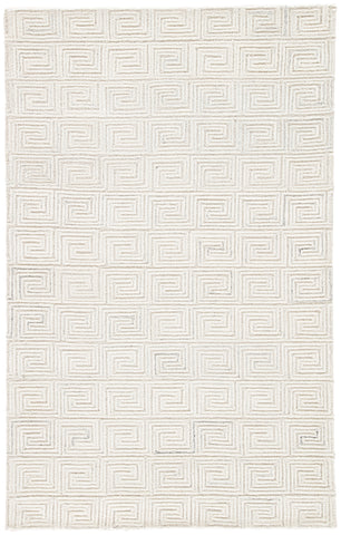 Harkness Geometric Rug in Whisper White & Oatmeal design by Jaipur