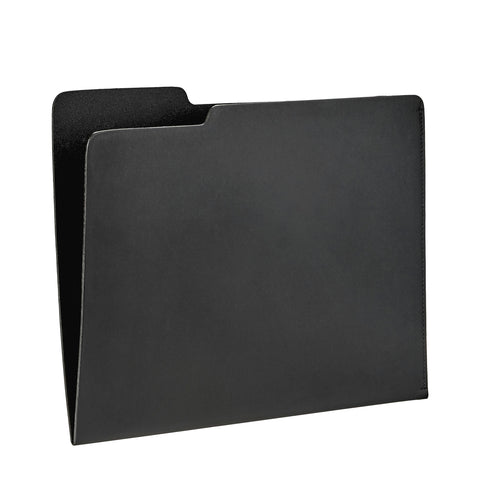 Carlo File Folder Black Leather by Graphic Image