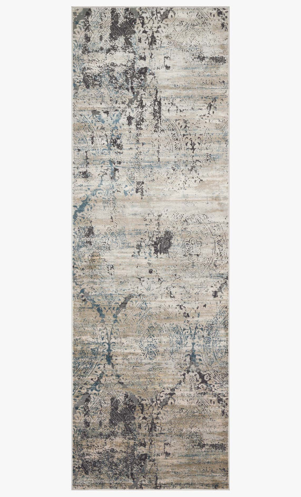Cascade Rug in Taupe & Blue design by Loloi